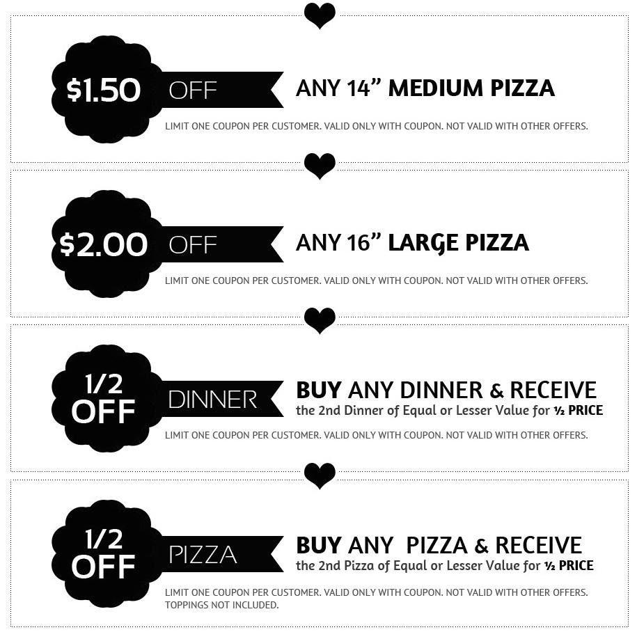 Aron's pizza coupons